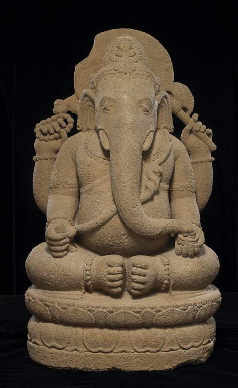 Ganesha :Sailendra dynasty-Volcanic stone .Indonesia, Eastern Java Minneapolis Institute of Arts