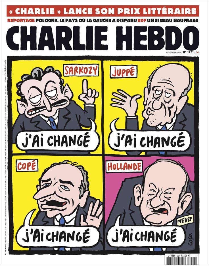 Charlie Hebdo   Journal satirique, laïque, politique et joyeux, toutes les semaines en kiosque et tous les jours sur internet.