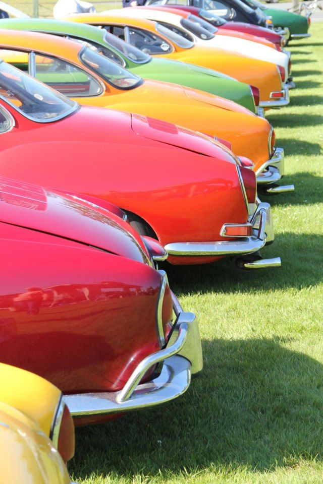 VW Karmann Ghias ~ yep, one in every color.....