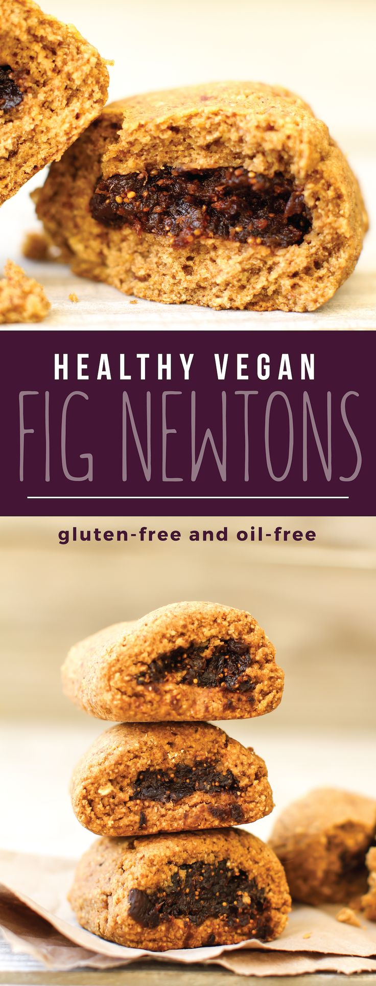 These Vegan Gluten-free Fig Newtons have all the figgy flavor, but none of the gluten or oil or sugar! Made healthy with dates, oats, and a special citrus kick...
