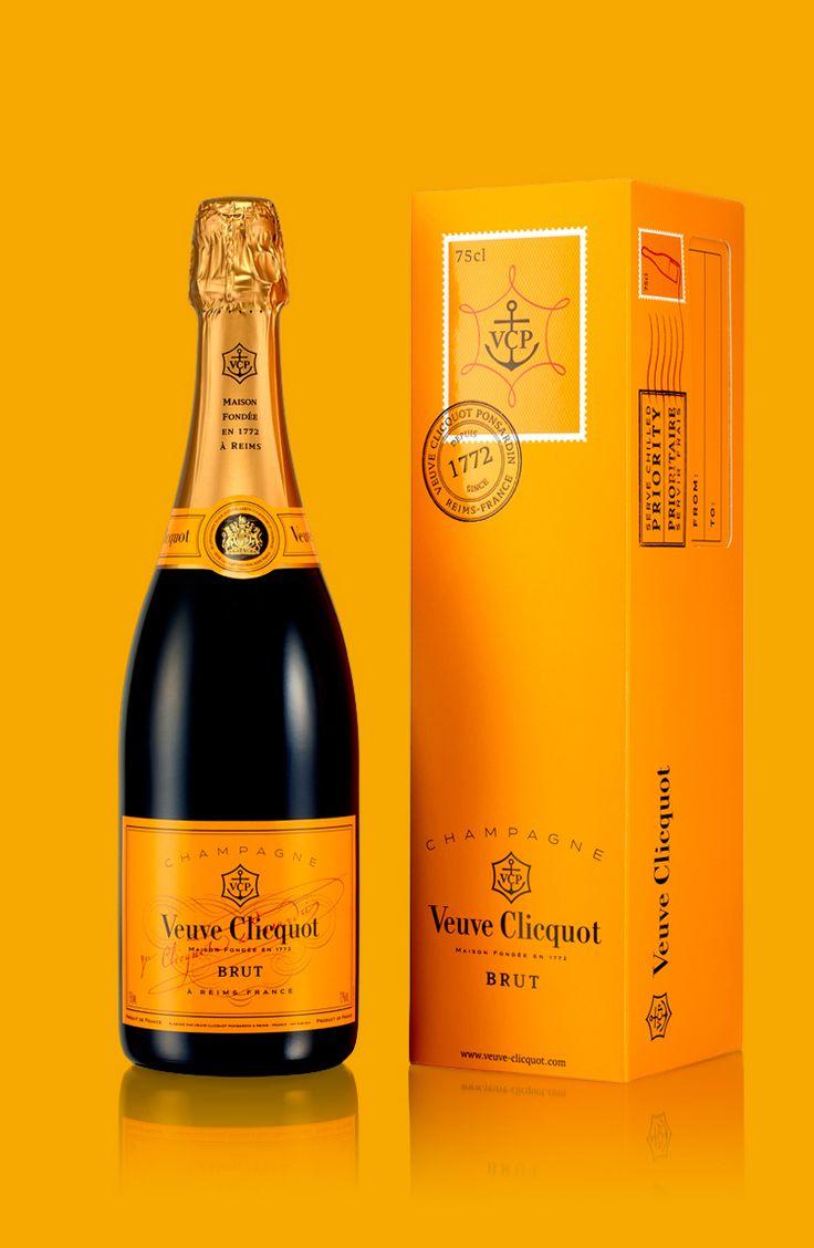champagne etiquette orange