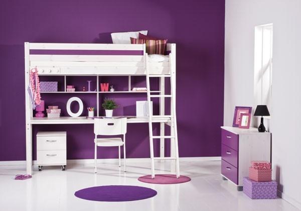 Ikea Hochbett Mit Schreibtisch Und Regal ~ Thuka Trendy Hochbett weiß, mit Schreibtisch Platte und Regal