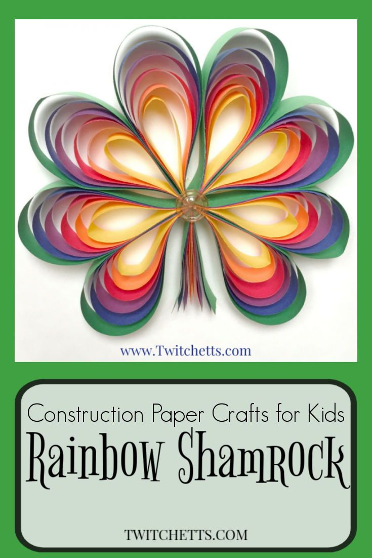 How To Make 3d Rainbow Colored Paper Shamrocks Twitchetts St