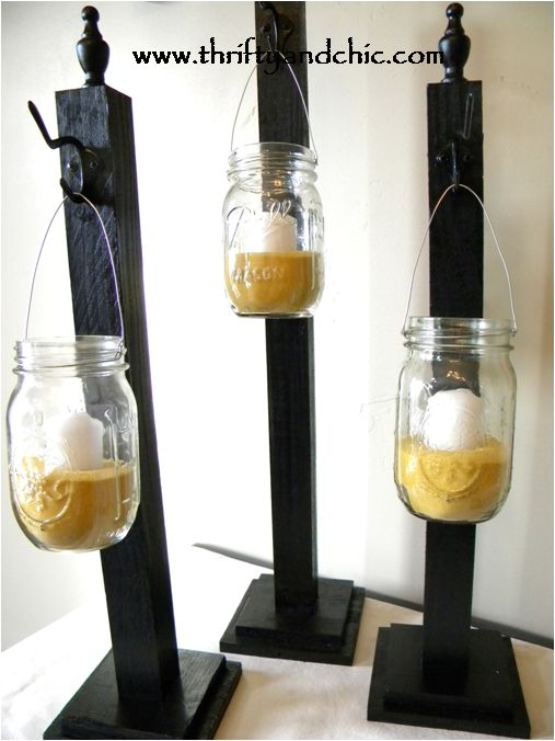 hanging mason jars--would be cool up our driveway on the night of a party (our driveway is DARK!)