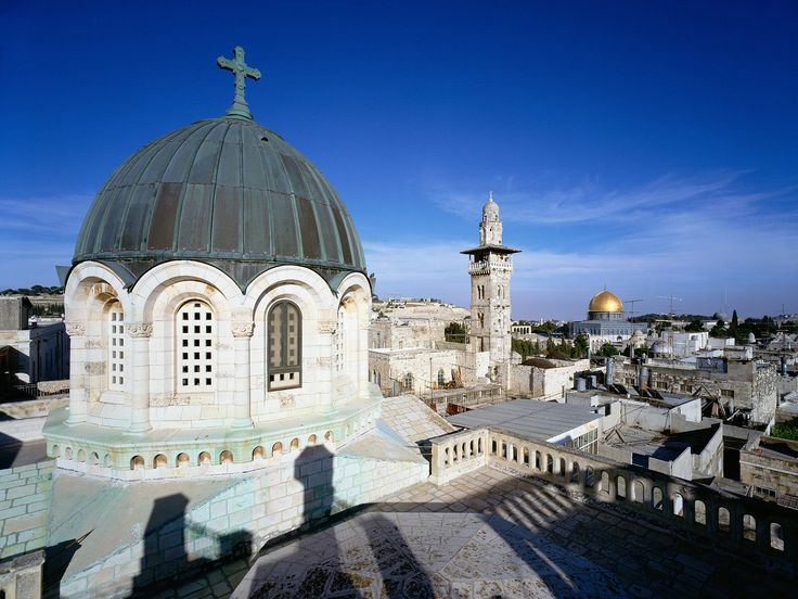 Rooftop View of Old City, Jerusalem, Israel