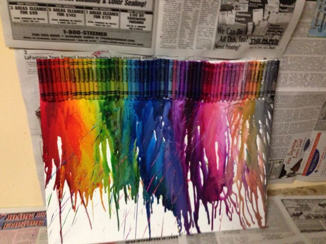 25 unique melting crayon canvas ideas on pinterest for How to melt crayons on canvas