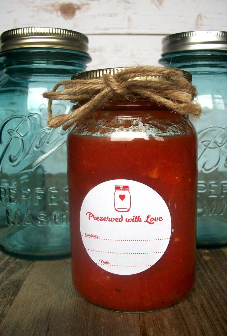 colorful preserved with love canning labels canning jar labels