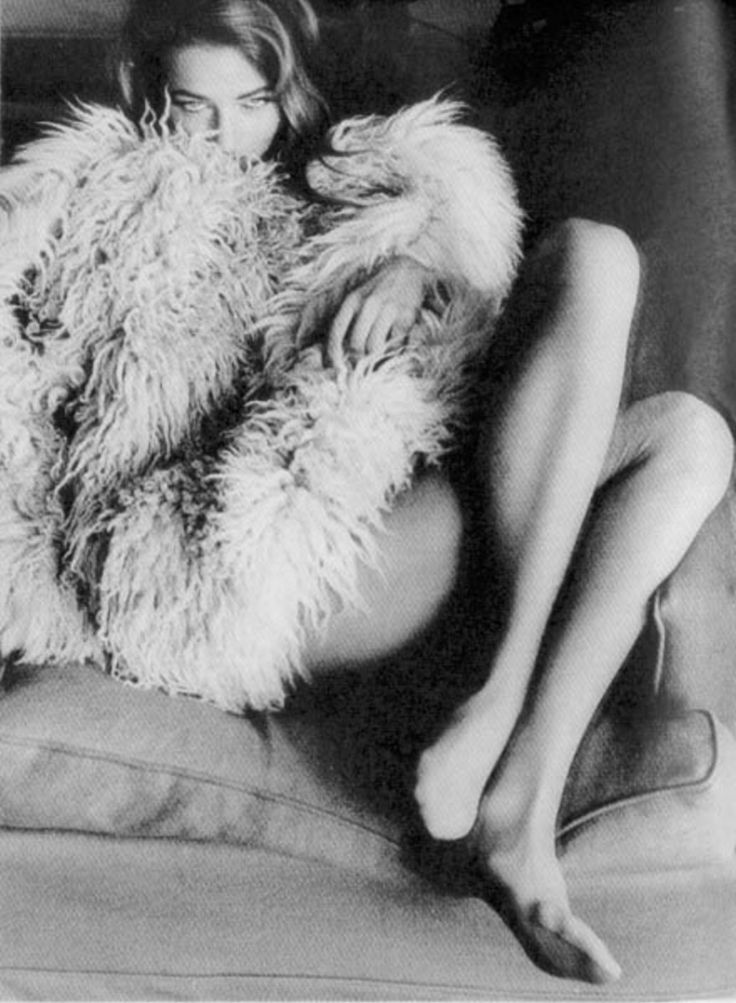 emotion: confidence, coy flirtation, desire  Charlotte Rampling by Helmut Newton, 1974