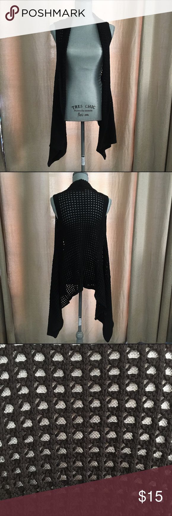 Black Knit Maxi Vest Black Knit Maxi Vest. As is. In perfect condition. Perfect for fall or festival wear. Jackets & Coats Vests