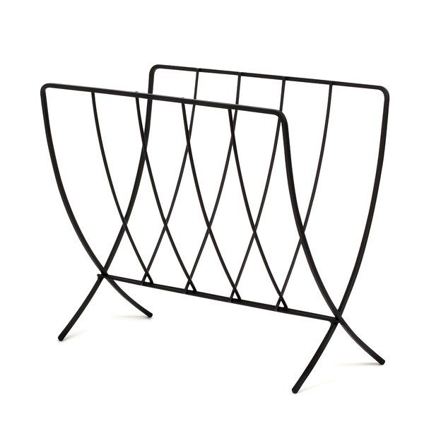 Tired having your magazines and newspaper strewn all over the place? Stay organized with this contemporary magazine rack! The unique V shape of the rack keeps the magazines firmly in place, and can conveniently be folded inward when it needs to be stored away.