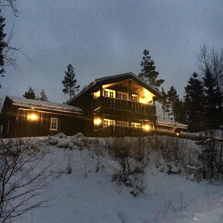 Da har vi kommet hjem etter ei koselig hyttehelg i fin snø 😘❄️
