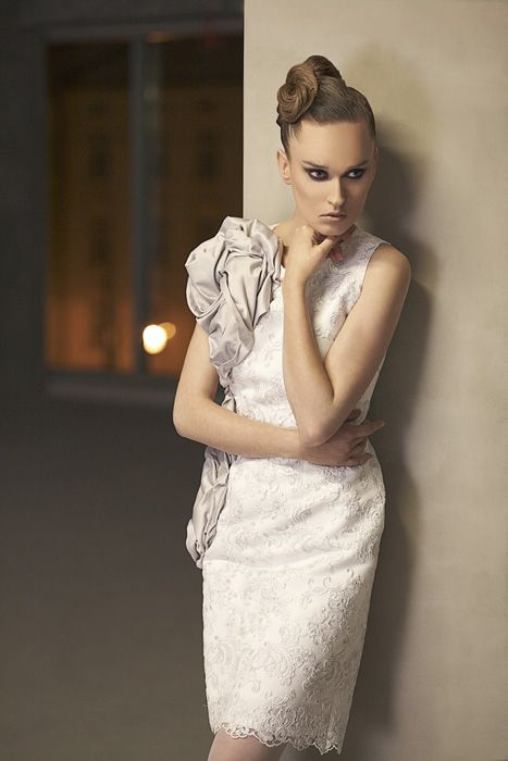 short bridal dress, www.femini.pl