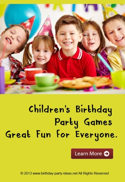 Children S Birthday Party Games Great Fun For Everyone