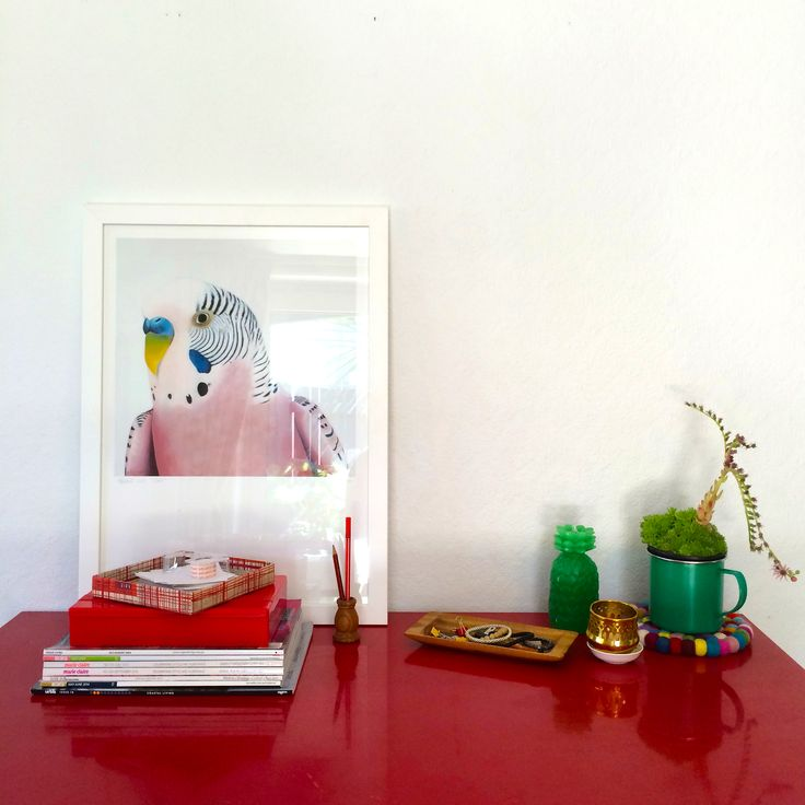 #margaretptchell #artprint @endemicworld #cactus #pineapple #deskvignette #styling by #places&graces