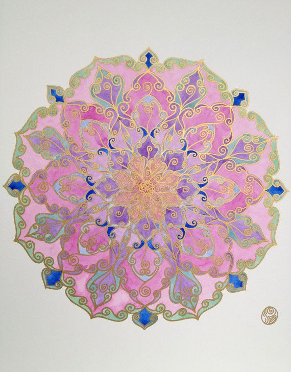 Maṇḍala meaning circle. In the Buddhist and Hindu religious traditions sacred art often takes a mandala form. The basic form of most mandalas is a