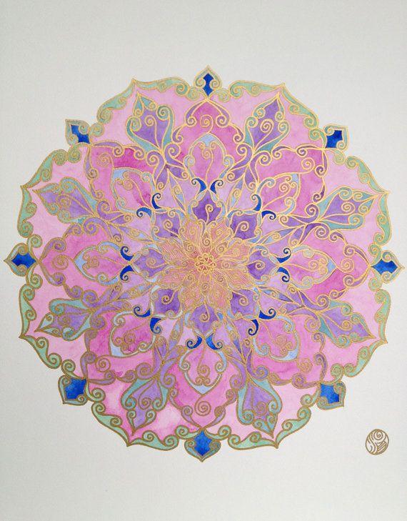 Pink Lotus Mandala. $170.00, via Etsy.