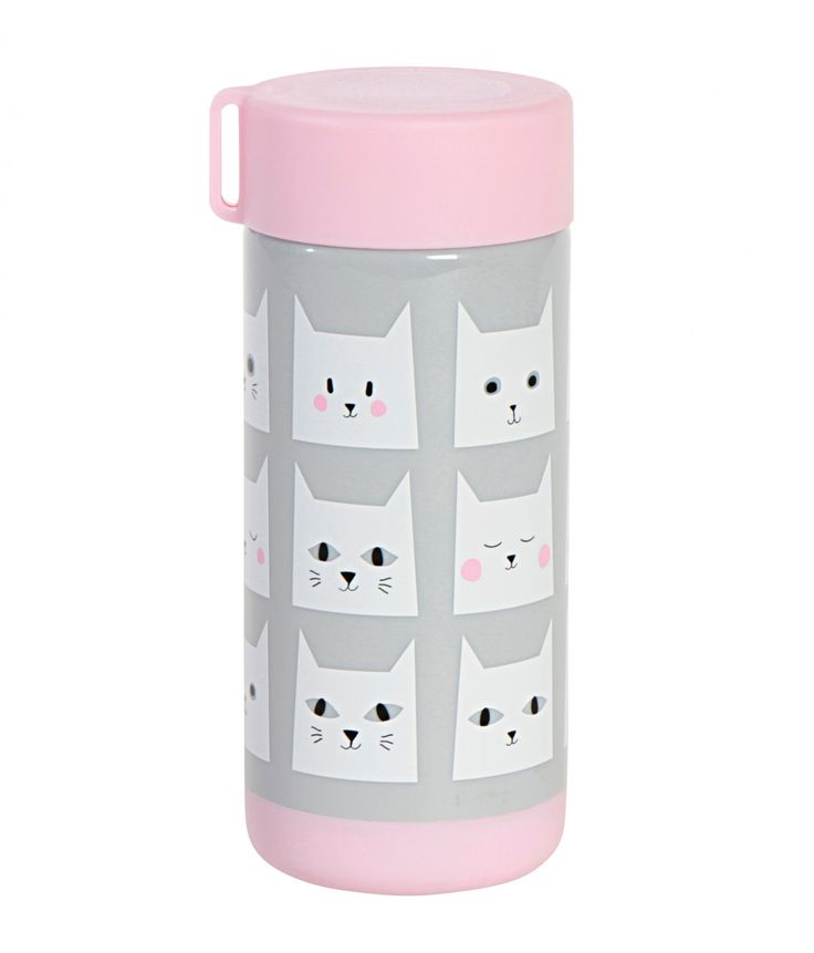 The Kitsch Kitchen Cats Drinking Bottle is irresistible!  Team with our matching lunch box!  The Kitsch Kitchen collection is a balanced mix of products from exotic countries and exclusive designs. Cheerful, colourful and functional are key words - products that make you happy and bring joy to the lucky recipients!  Little Boo-Teek - Kitsch Kitchen Cats Drink Bottle | Designer Kids Toys Online | Childrens Toys and Gifts