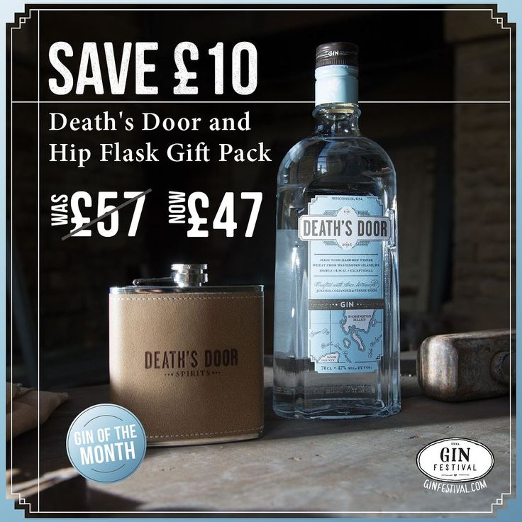 SAVE 10! This Death's Door Gift Pack with Hip Flask WAS 57 NOW 47.  http://ift.tt/2gDvREa  This month only get a bottle of Death's Door Gin plus a gorgeous Death's Door branded Hip Flask for the same price as a bottle of Death's Door Gin. A brilliant gift for a gin lover.  Death's Door Gin has a surprisingly simple botanical mix of juniper berries coriander and fennel. The taste of all three botanicals is clear: loaded juniper berries up front; spicy citrusy notes from the coriander seeds in…