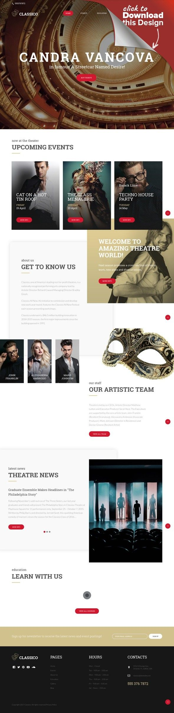 Template WordPress Responsive #64441 per Un Sito di Teatro Modelli CMS e Blog, Temi Wordpress, Template Arte e Cultura, Template Teatro   Template WordPress per Un Sito di Teatro. Funzionalità aggiuntive, documentazione dettagliata e immagini stock incluse.