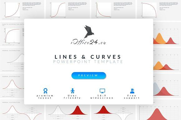 Lines & curves | PowerPoint by ioffice24 on @creativemarket