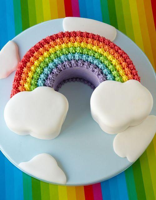 Rainbow cake for my sunshine girl!