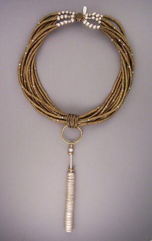 Africa brass beads...Thailand fine silver... sandblasted sterling teripelio.com