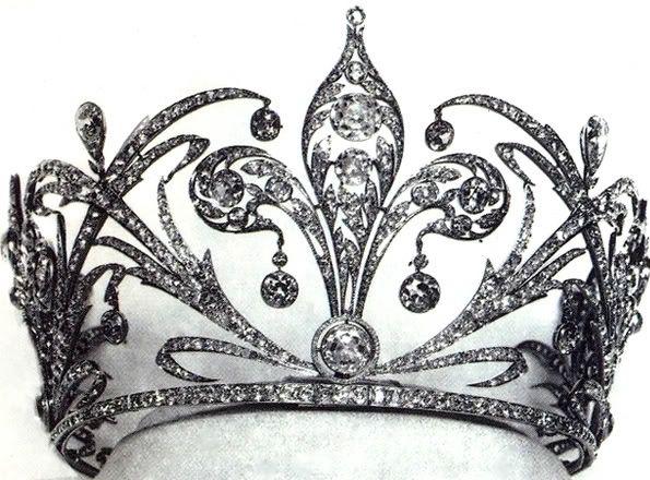 Habsburg Tiara, Austria (19th c.; diamonds). Tiara of Stéphanie of Belgium, Crown Princess of Austria and wife of Rudolf, Crown Prince of Austria, Hungary and Bohemia.