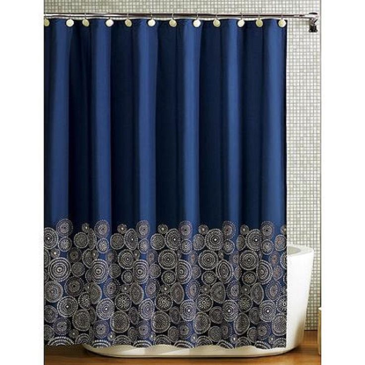 Hometrends Royale Blue Medallions Shower Curtain For Bathroom New Nwt