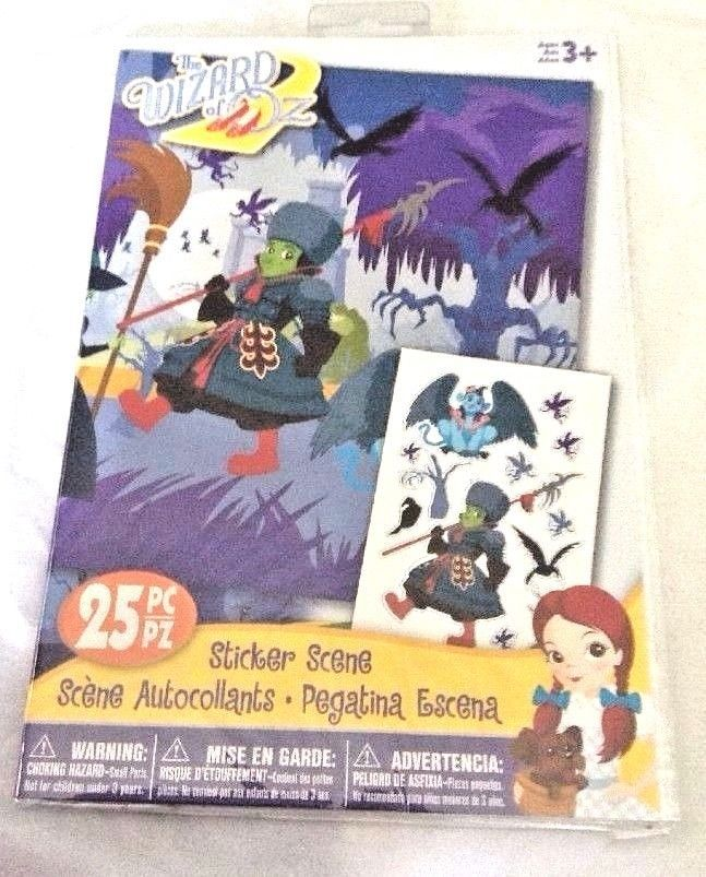 Wizard Of Oz Winged Monkey Winkie Guard 25 Sticker Scene Craft Scrapbook NIP #Darice