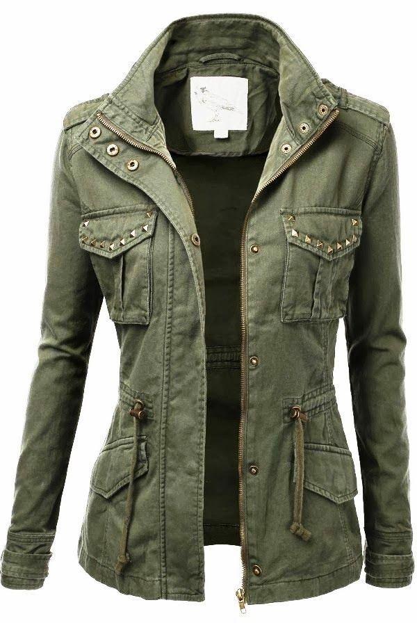 Green military jacket style Beautiful Womens Fashion