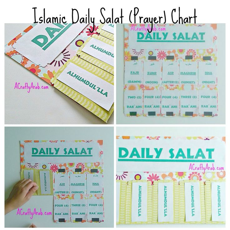 A Crafty Arab: Guest Blogger Post - Islamic Daily Salat (Prayer) Chart Tutorial - Ramadan Craft Tutorial - 2015 (30 Days of Ramadan Crafty Challenge)