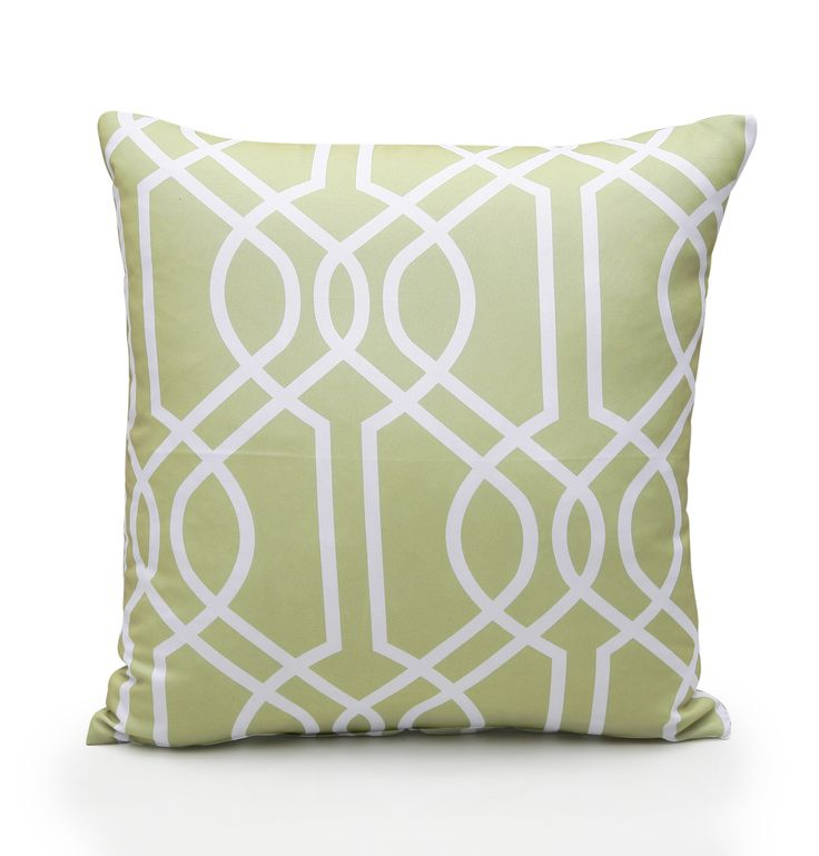 Green scatter cushion.