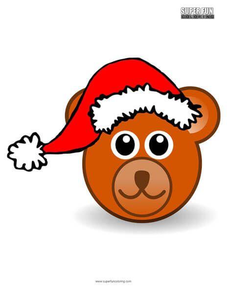 Santa Bear Christmas Coloring Page Super Fun Pages And