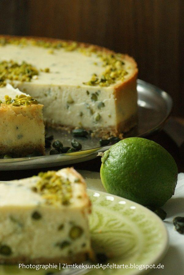 Limetten-Pistazien-Cheesecake  - Zimtkeks und Apfeltarte