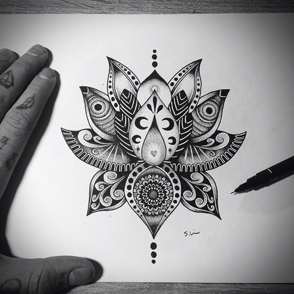 Mandala Lotus Designs Lotus Flower Tattoo Design