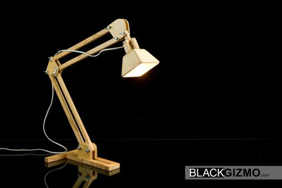 Wooden Table Lamp DL015 by blackgizmo on Etsy, €75.00