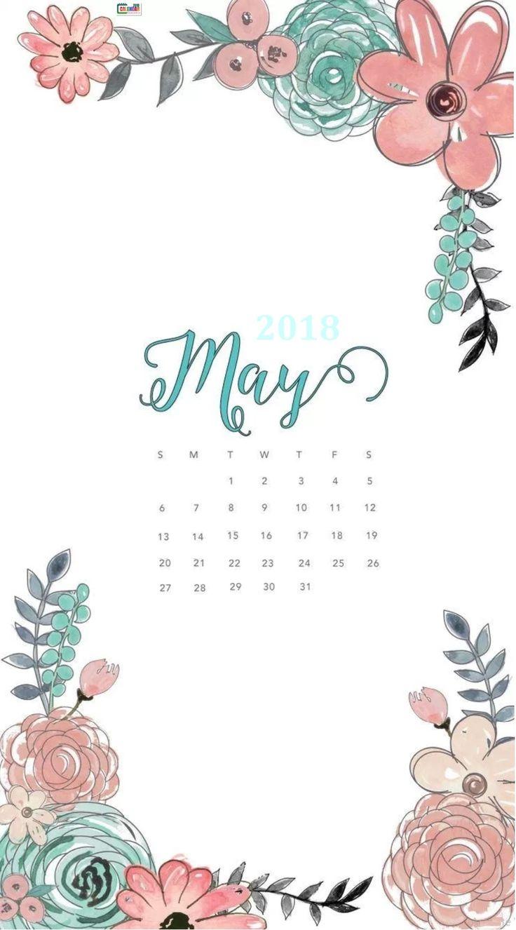 Hello May 2018 Calendar Wallpaper