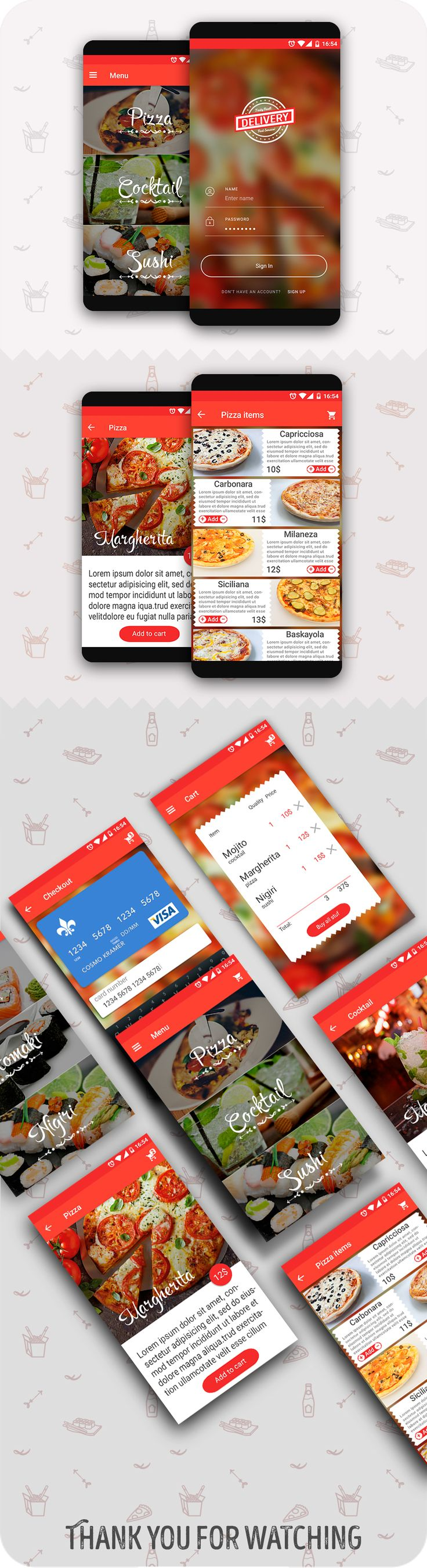 Delivery food app on Behance
