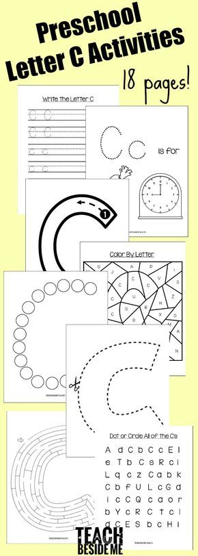 Preschool letter of the week series: preschool letter c activities including craft, snack, printable set, and book list to go along with your preschool!