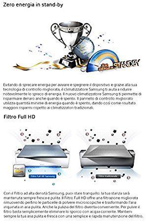Samsung Boracay Plus - AR09FSFTKWQN Klimagerät/Klimaanlage Inverter Klasse A + Wärmepumpe, Entfeuchter 9000BTU: Amazon.de: Baumarkt