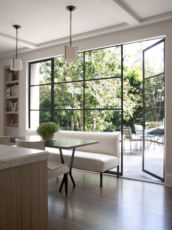 Clean design large windows window door interior Modern houses with big windows