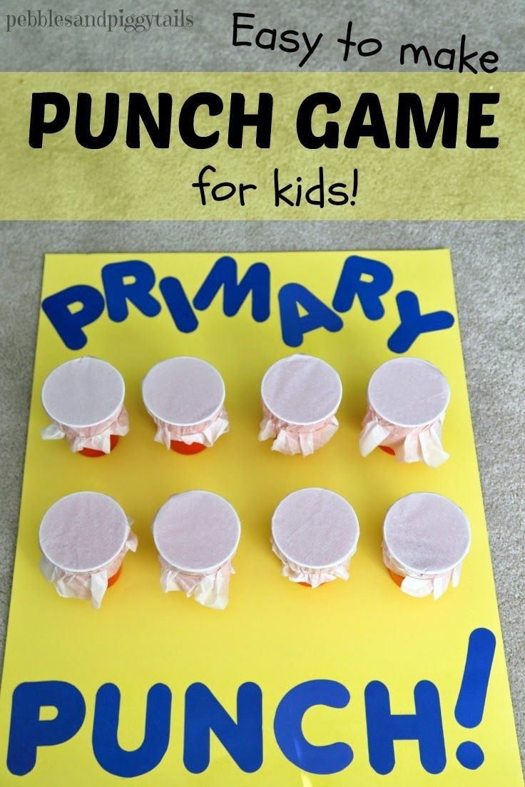 Instructions on how to make an easy Tissue Punch Out game for kids.  Perfect for parties, preschool, singing time, or whatever.  You can reuse this game over and over.