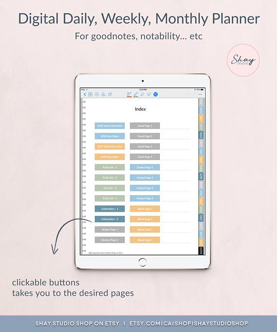 2018 2019 dated digital daily planner weekly planner monthly