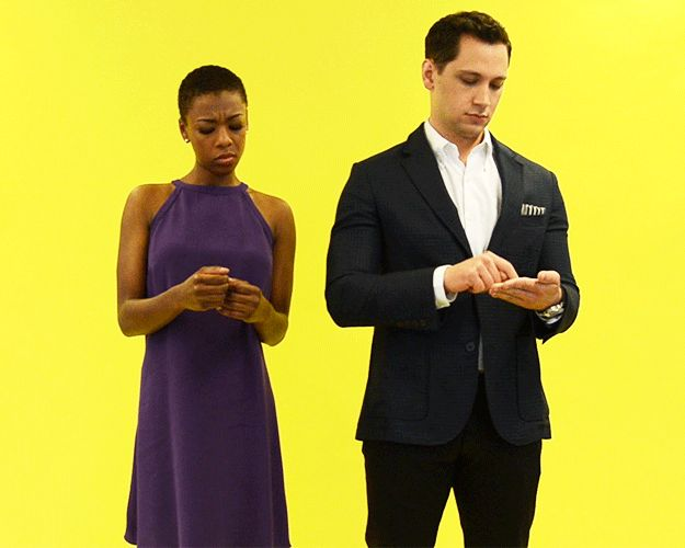 You're creeping on someone's Instagram. | Samira Wiley And Matt McGorry React To 13 Real Struggles Of Life