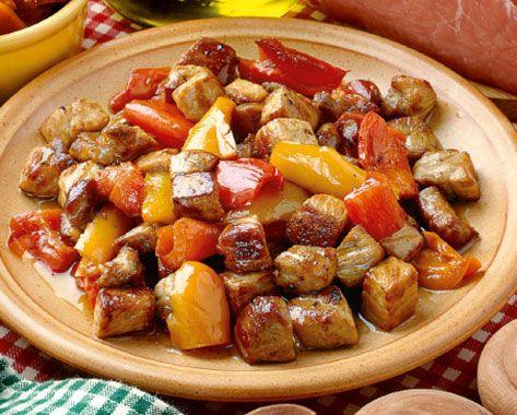 Polpa di maiale con peperoni