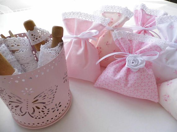 Baby Shower Gift Pink Sachets Bonbonniere Gift For Guests