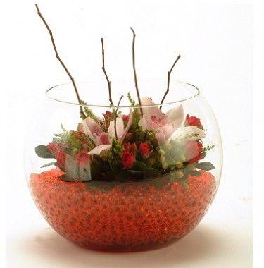 arreglos florales en pecera - Buscar con Google