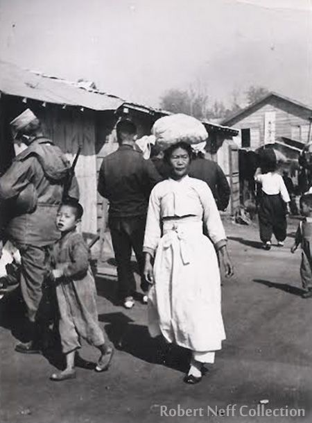 Life in Chuncheon during the Korean War. Photo by Fred Dustin.
