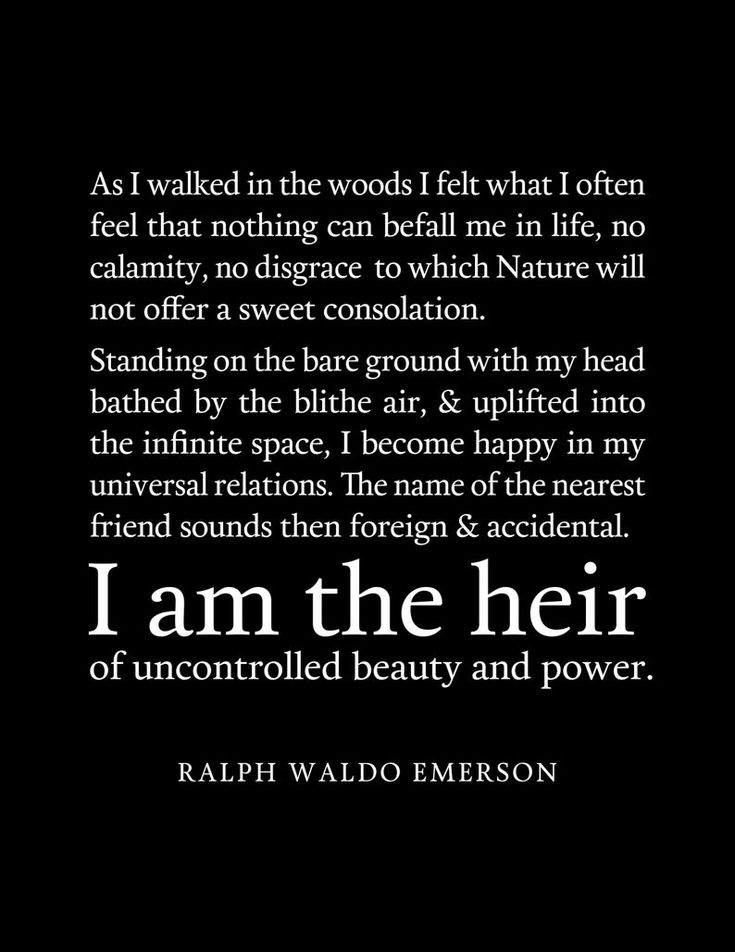 Uncontained Beauty And Power Quote Ralph Waldo Emerson