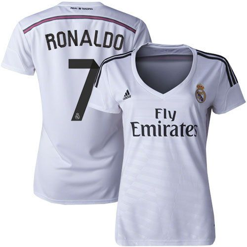 Women's Cristiano Ronaldo Real Madrid CF Soccer Jersey - White- Size LARGE, Real Madrid Merchandise, Ropa Deportiva
